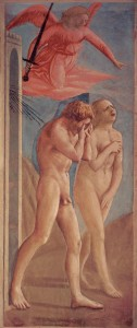 'The Expulsion from the Garden of Eden', by Masaccio, circa 1425.