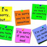 How (not) to apologise